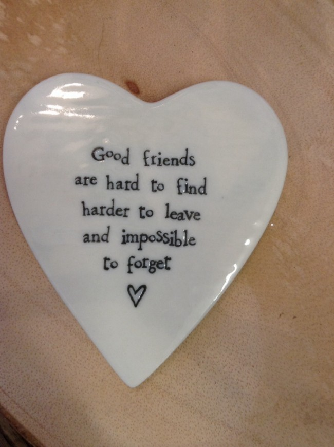 East Of India Goods Friends Are Hard Porcelain Coaster